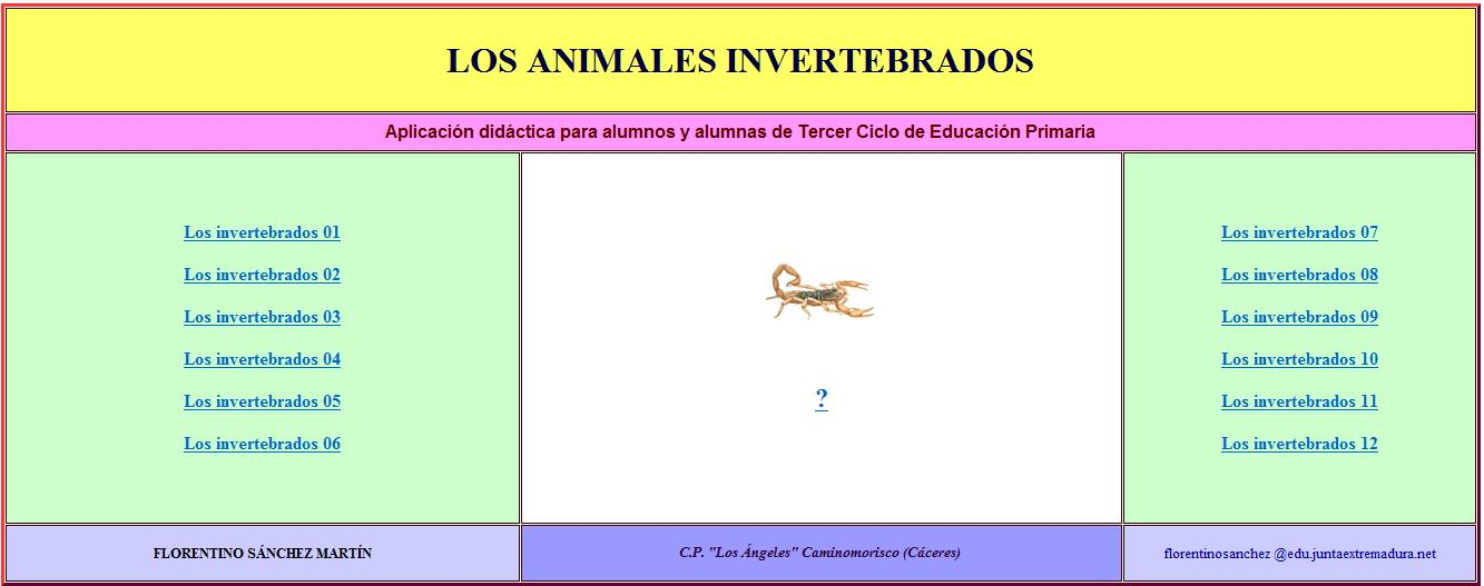 Los animales invertebrados | Recurso educativo 34797
