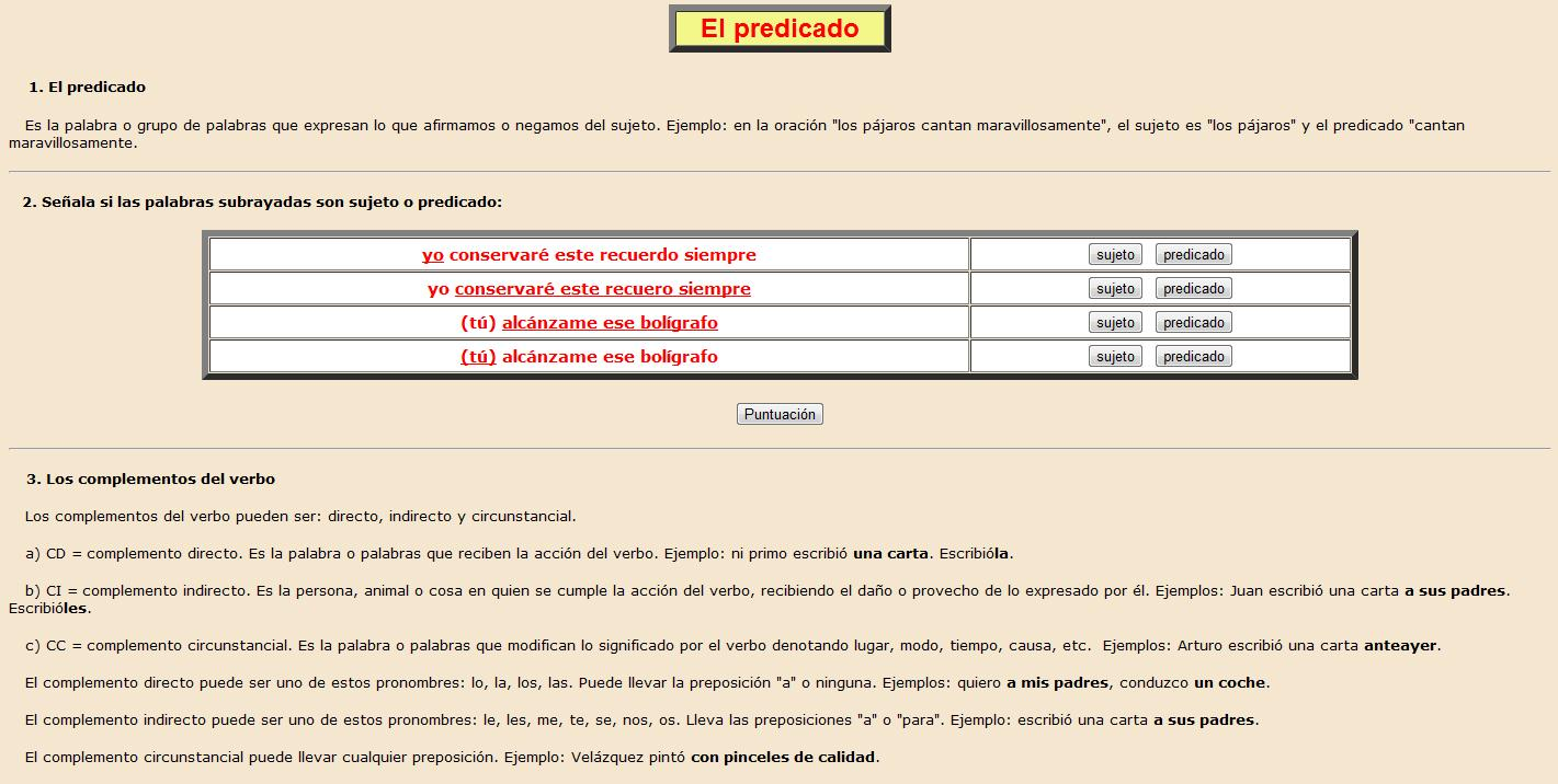 El predicado | Recurso educativo 37046