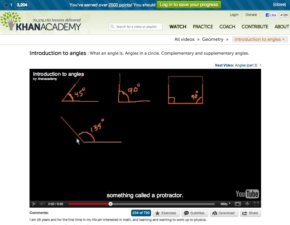 Video: Introduction to angles | Recurso educativo 40282