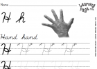 Cursive Alphabet Worksheet Hh | Recurso educativo 48432