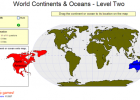 Game: World continents and oceans (2) | Recurso educativo 49682