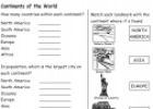 Continents of the world | Recurso educativo 54762