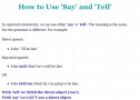 How to use 'say' and 'tell' | Recurso educativo 61959