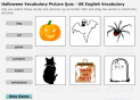 Halloween Vocabulary Picture Quiz | Recurso educativo 19619