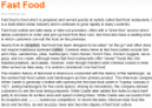 Reading: Fast Food | Recurso educativo 20282