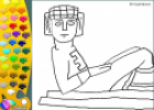 ¡A Colorear!: Estatua Chac Mool | Recurso educativo 26870