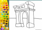 ¡A Colorear!: Arco de Triunfo | Recurso educativo 27130