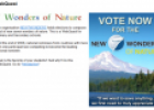 Webquest: New 7 wonders of nature | Recurso educativo 76297