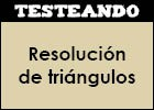 Resolución de triángulos | Recurso educativo 351716