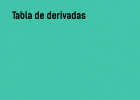 Tabla de derivadas | Recurso educativo 765699